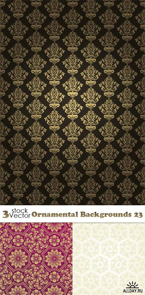 Vectors - Ornamental Backgrounds 23