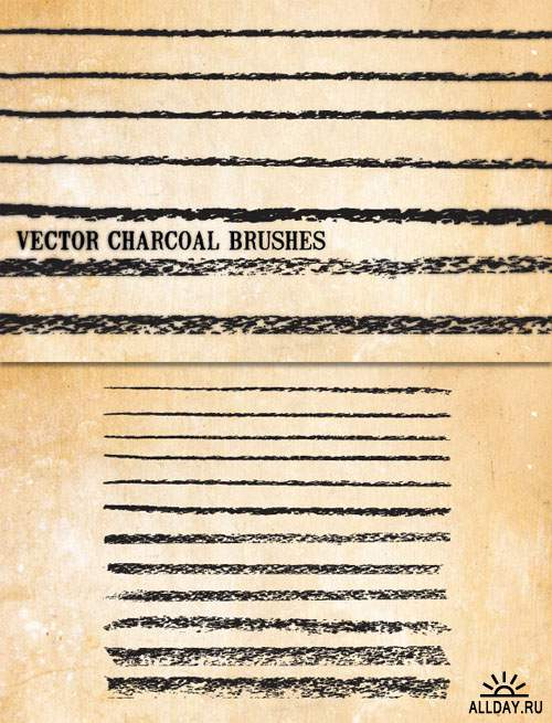 WeGraphics - Vector Charcoal Brushes