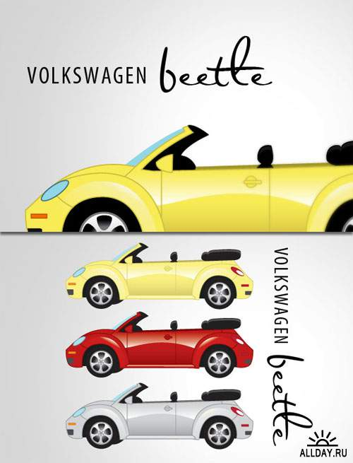 WeGraphics - Volkswagen Beetle Vector Illustration