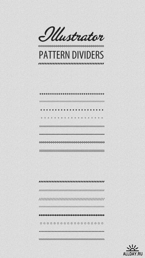 WeGraphics - Divider Patterns Illustrator Brush Set