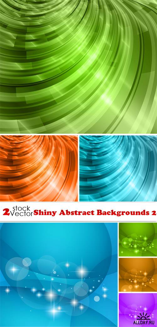 Vectors - Shiny Abstract Backgrounds 2