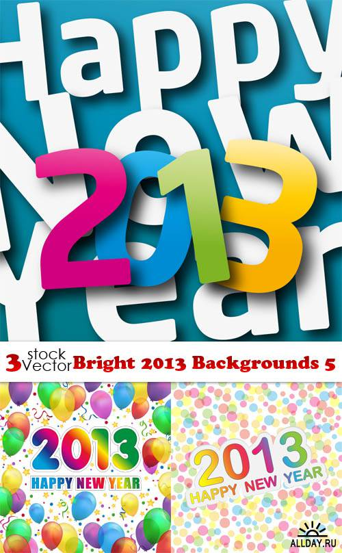 Vectors - Bright 2013 Backgrounds 5