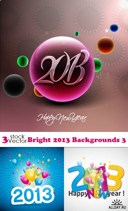 Vectors - Bright 2013 Backgrounds 3