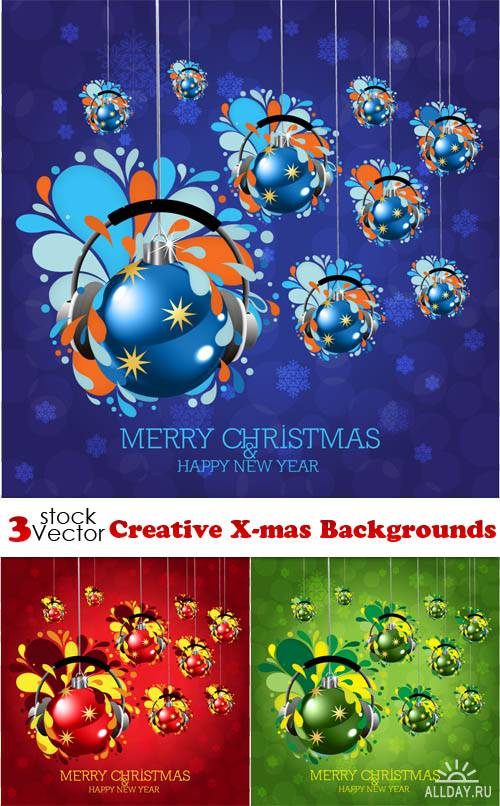 Vectors - Creative X-mas Backgrounds