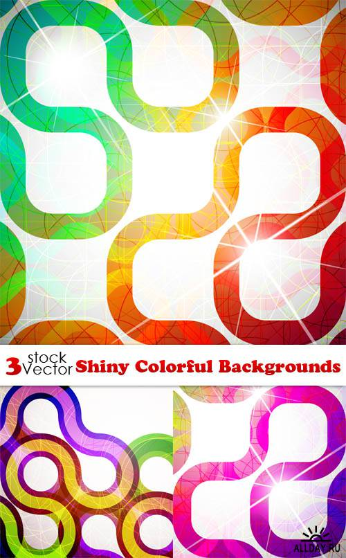 Vectors - Shiny Colorful Backgrounds