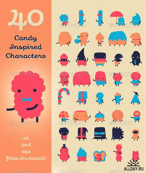 40 Candy Inspired Characters