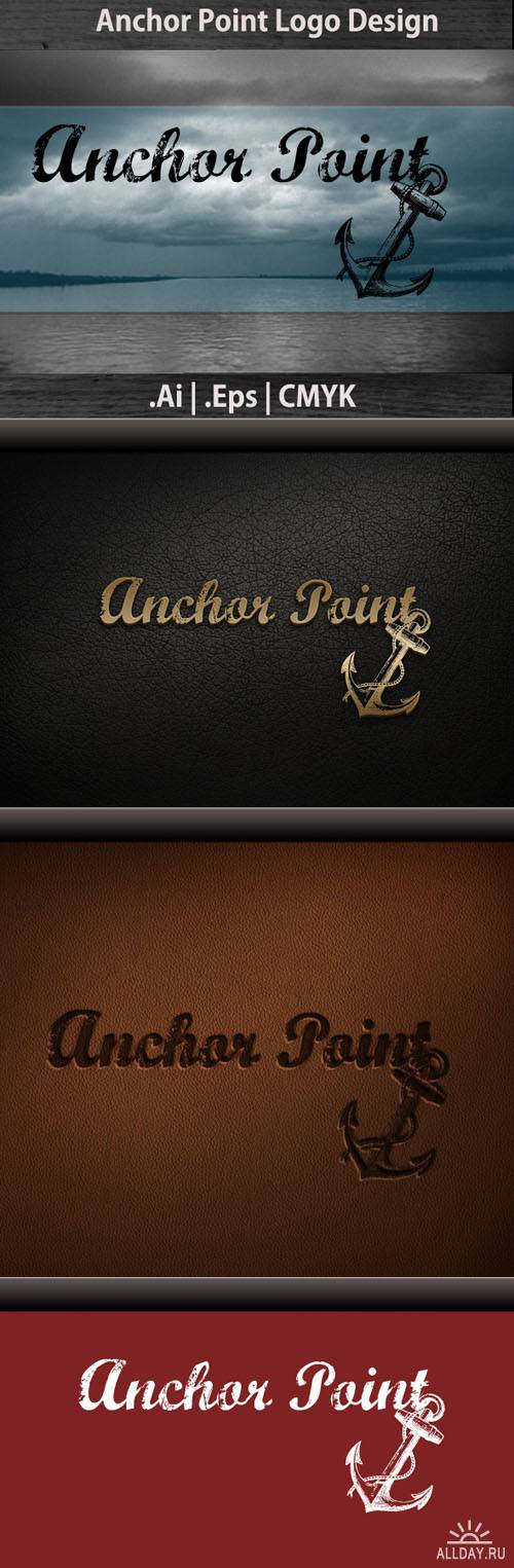 Anchor Point Logo Vector Template