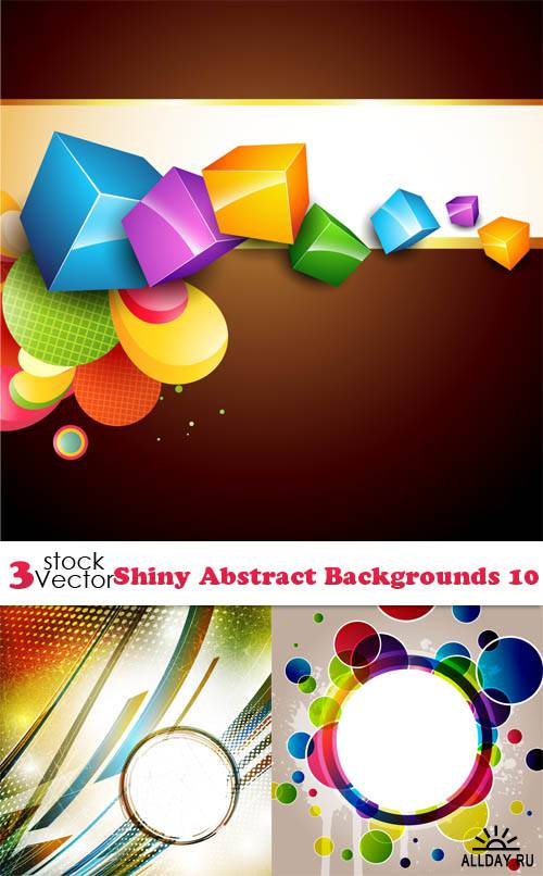 Vectors - Shiny Abstract Backgrounds 10