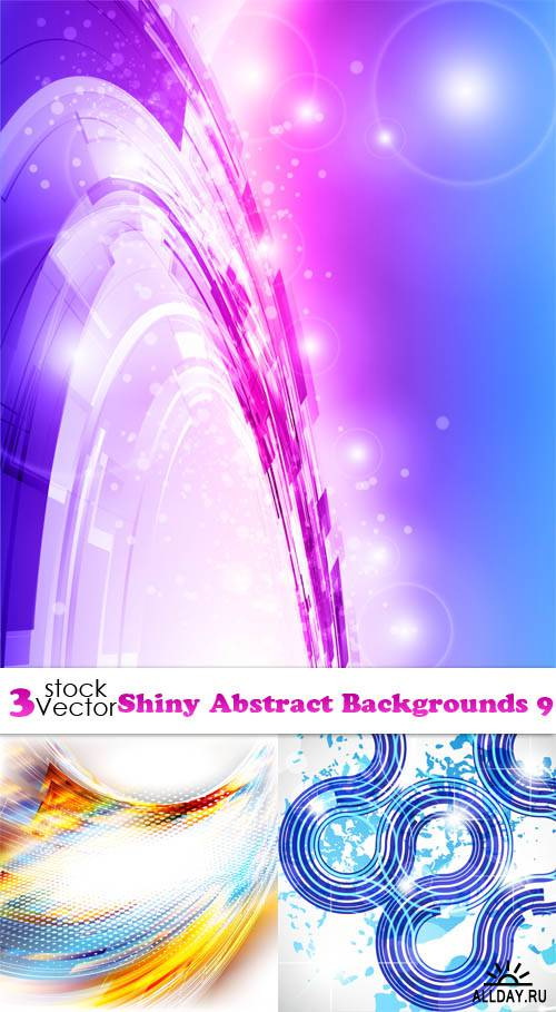 Vectors - Shiny Abstract Backgrounds 9