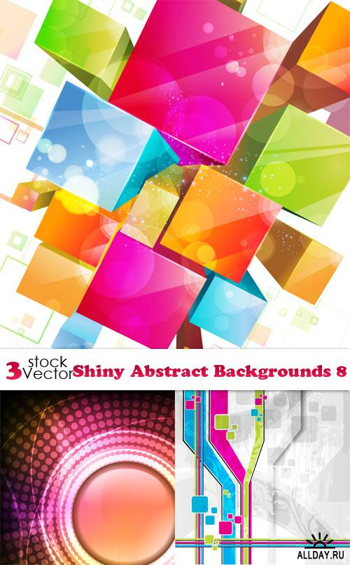 Vectors - Shiny Abstract Backgrounds 8