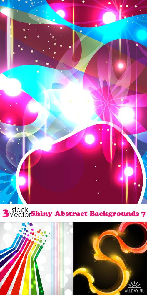 Vectors - Shiny Abstract Backgrounds 7