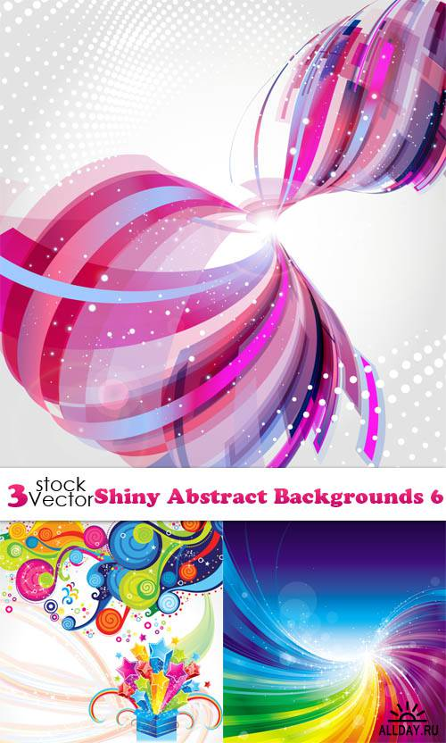 Vectors - Shiny Abstract Backgrounds 6