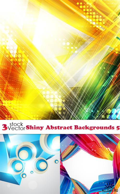 Vectors - Shiny Abstract Backgrounds 5