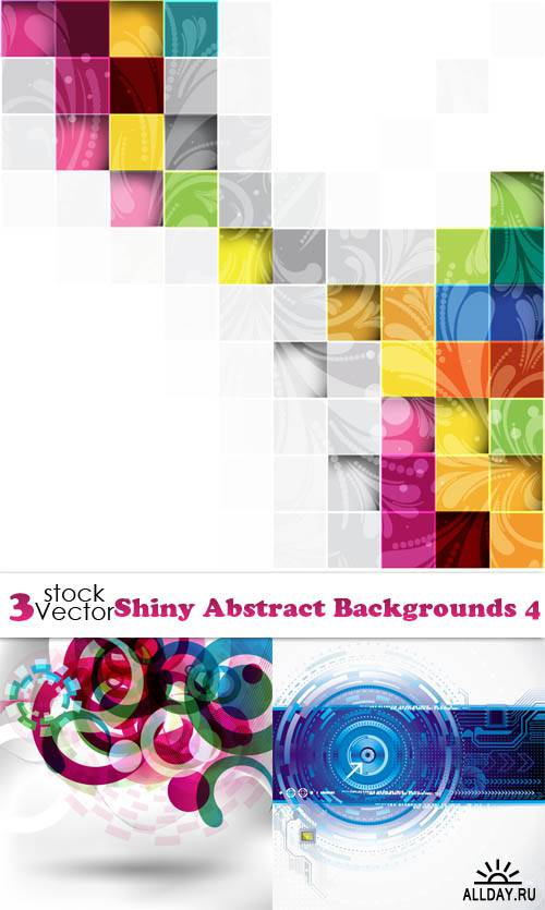 Vectors - Shiny Abstract Backgrounds 4