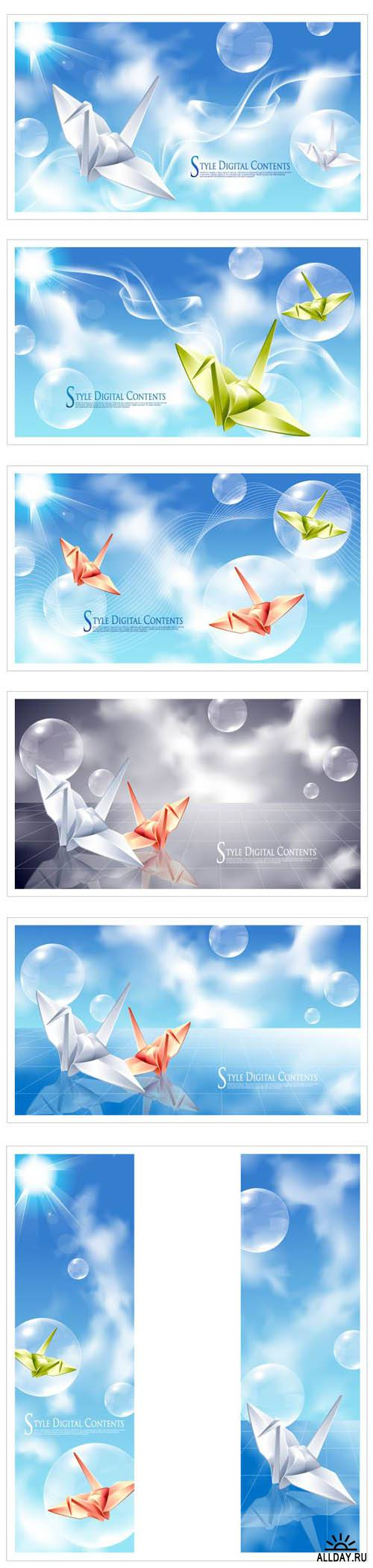 Digital Sky Vector Backgrounds