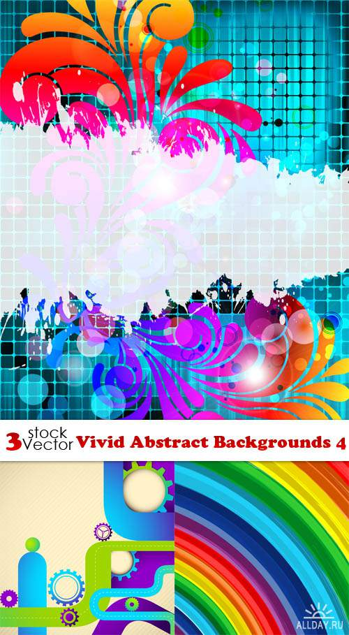 Vectors - Vivid Abstract Backgrounds 4