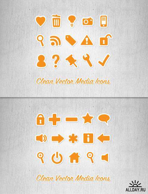 WeGraphics - Clean Vector Media Icons