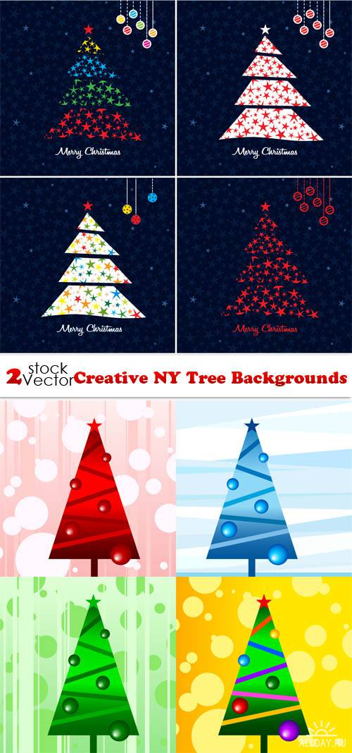 Vectors - Creative NY Tree Backgrounds