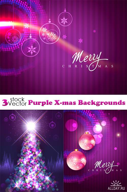 Vectors - Purple X-mas Backgrounds
