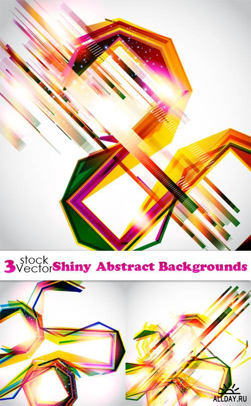 Vectors - Shiny Abstract Backgrounds