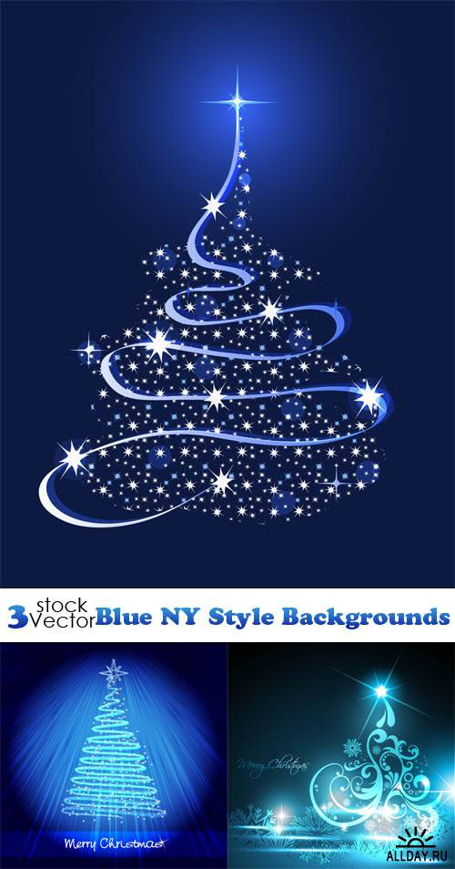 Vectors - Blue NY Style Backgrounds