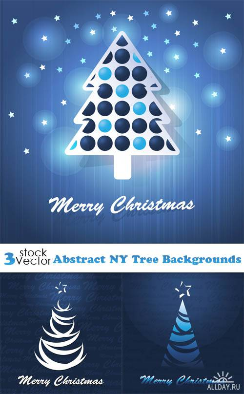 Vectors - Abstract NY Tree Backgrounds
