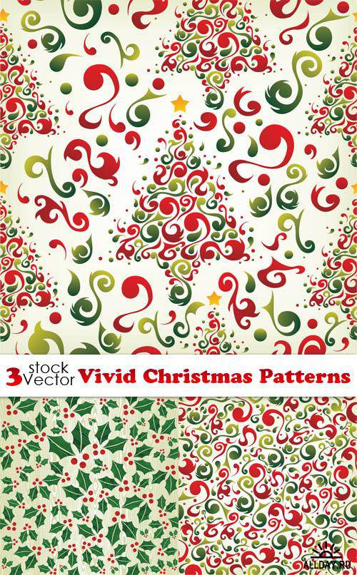Vectors - Vivid Christmas Patterns