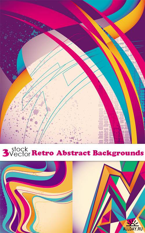 Vectors - Retro Abstract Backgrounds