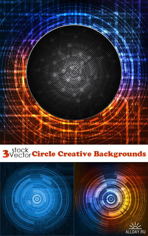 Vectors - Circle Creative Backgrounds