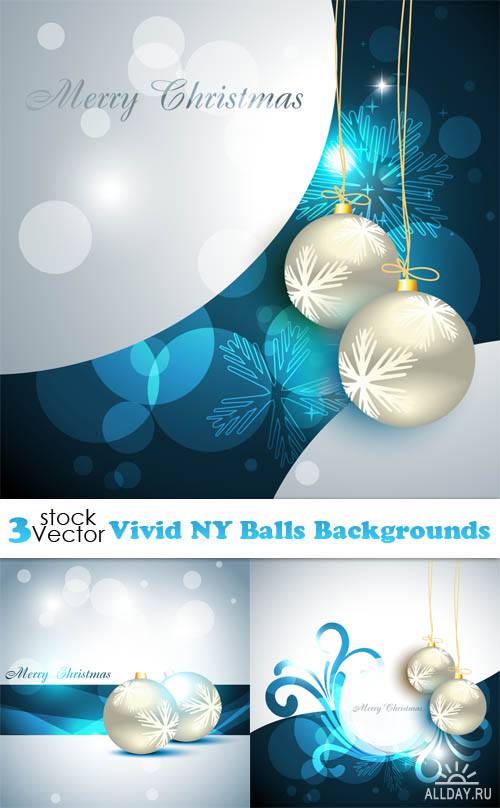 Vectors - Vivid NY Balls Backgrounds
