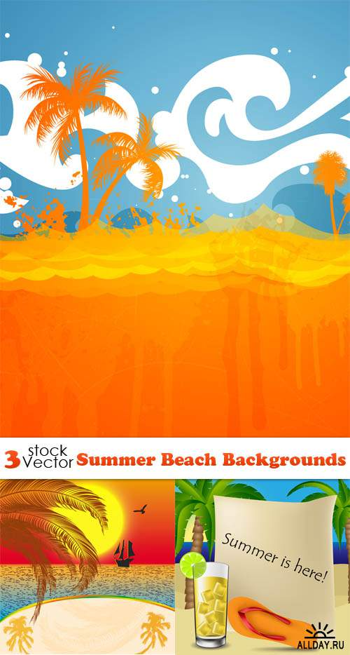 Vectors - Summer Beach Backgrounds