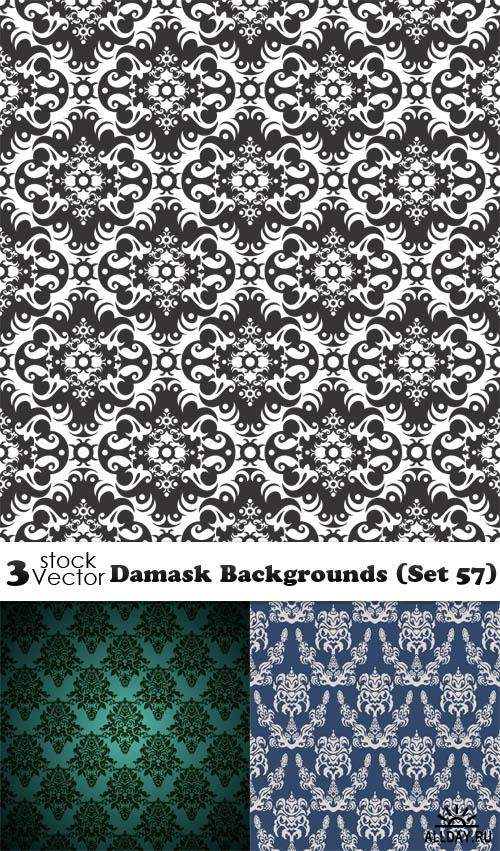 Vectors - Damask Backgrounds (Set 57)