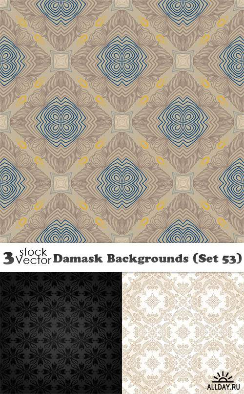 Vectors - Damask Backgrounds (Set 53)