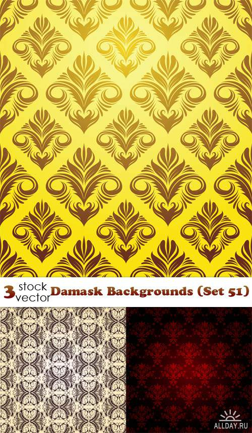 Vectors - Damask Backgrounds (Set 51)
