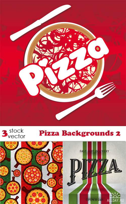 Vectors - Pizza Backgrounds 2