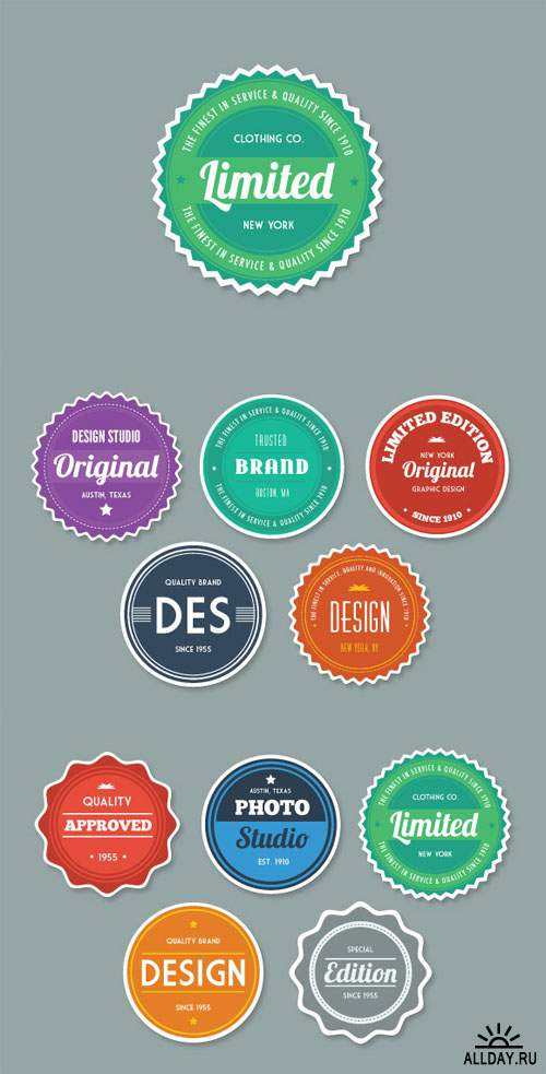 Flat Style Vector Badges