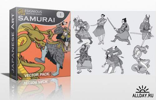 Samurai Photoshop Vector Pack 1