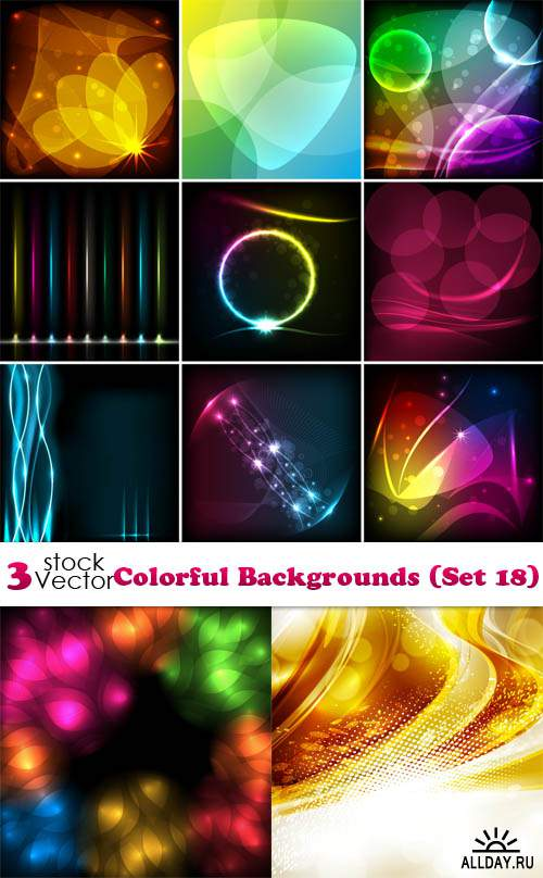 Vectors - Colorful Backgrounds (Set 18)