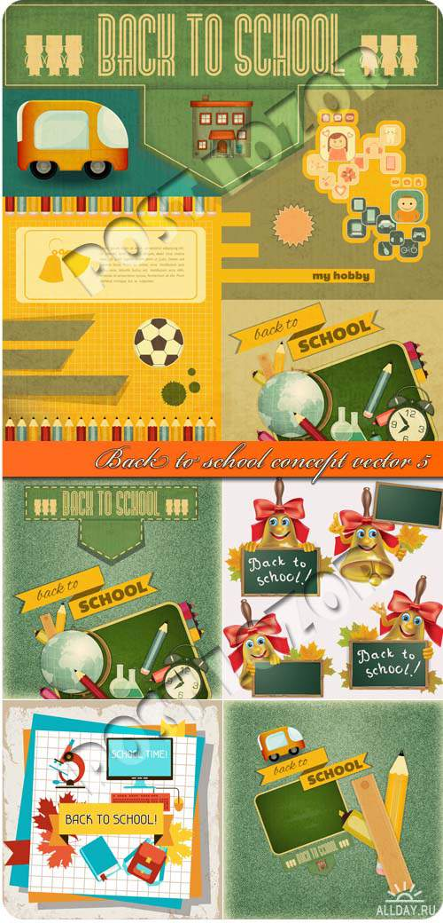 Скоро в школу концепция 5 | Back to school concept vector 5