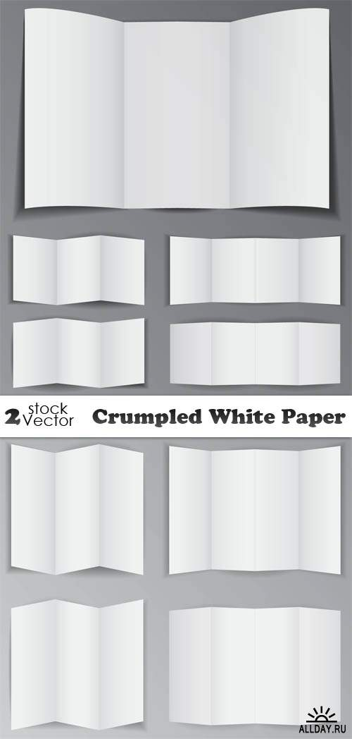 Vectors - Crumpled White Paper