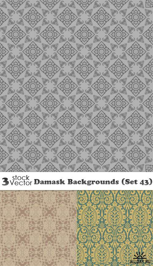 Vectors - Damask Backgrounds (Set 43)