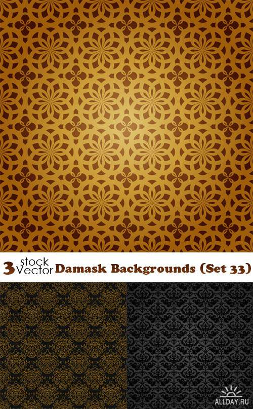 Vectors - Damask Backgrounds (Set 33)