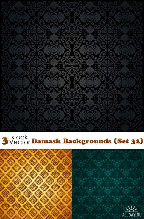 Vectors - Damask Backgrounds (Set 32)