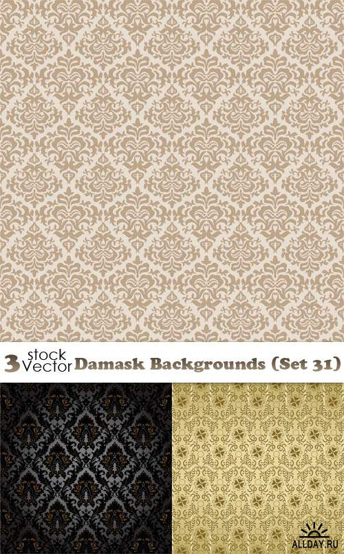 Vectors - Damask Backgrounds (Set 31)