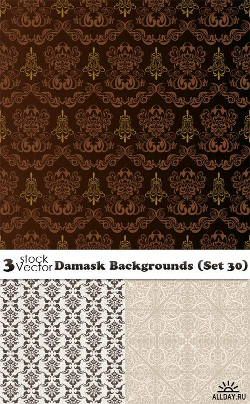 Vectors - Damask Backgrounds (Set 30)
