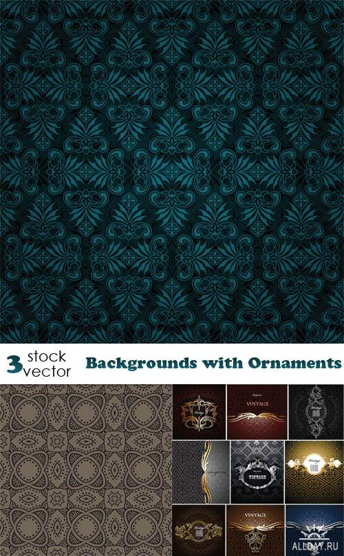 ��������� ������� - Backgrounds with Ornaments