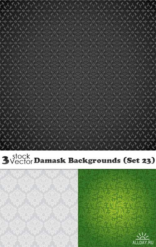 Vectors - Damask Backgrounds (Set 23)